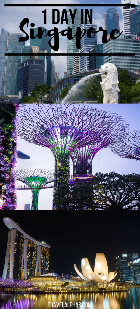 Looking for some Singapore travel tips? Or maybe some Singapore travel inspiration? In this post, we detail exactly how you should spend one day in Singapore. During our 24-hour layover, we tackled everything Singapore has to offer, from the Gardens by the Bay and the Hawker Centres, to seeing Marina Bay and the Sri Mariamman Temple. Here's how to spend one day in Singapore!