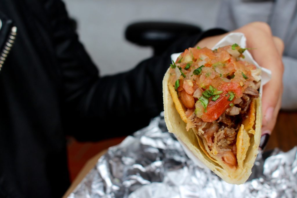 a taco from The Mission District in San Francisco - a must on your california bucket list