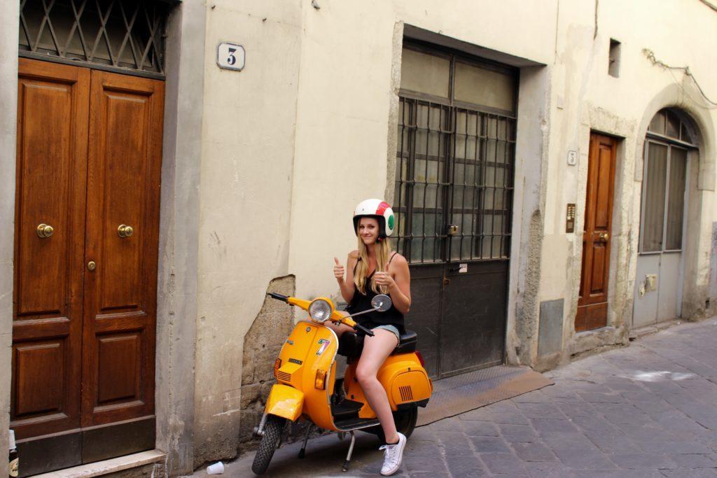 Riding Vespas Through Tuscany
