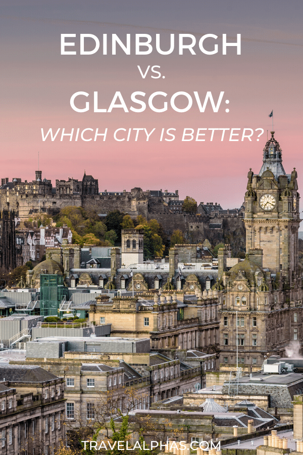 Well, it's time to confront one very controversial topic head on: Edinburgh versus Glasgow. Which Scottish city is better? And which city should you visit while traveling to Scotland? Each city has its own charm and allure, and to really get a feel for Scotland, you need to visit both cities. But if you don't have time, you need to make a difficult choice. So we're going to break it down for you! We'll cover things to do, castles, day trips, restaurants and food, locals, museums, and more!