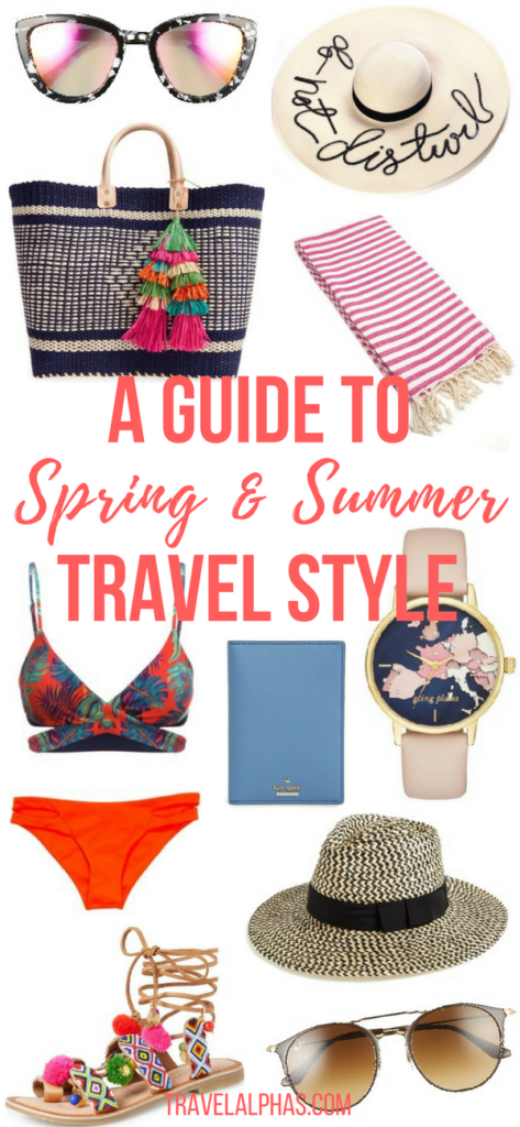 Traveling to a beach destination this spring? Taking an island vacation this summer? This Spring & Summer Travel Style Guide has you covered! From sunglasses and sandals, to swimsuits and beach totes, this guide has everything you'll need for a successful (and stylish) vacation!