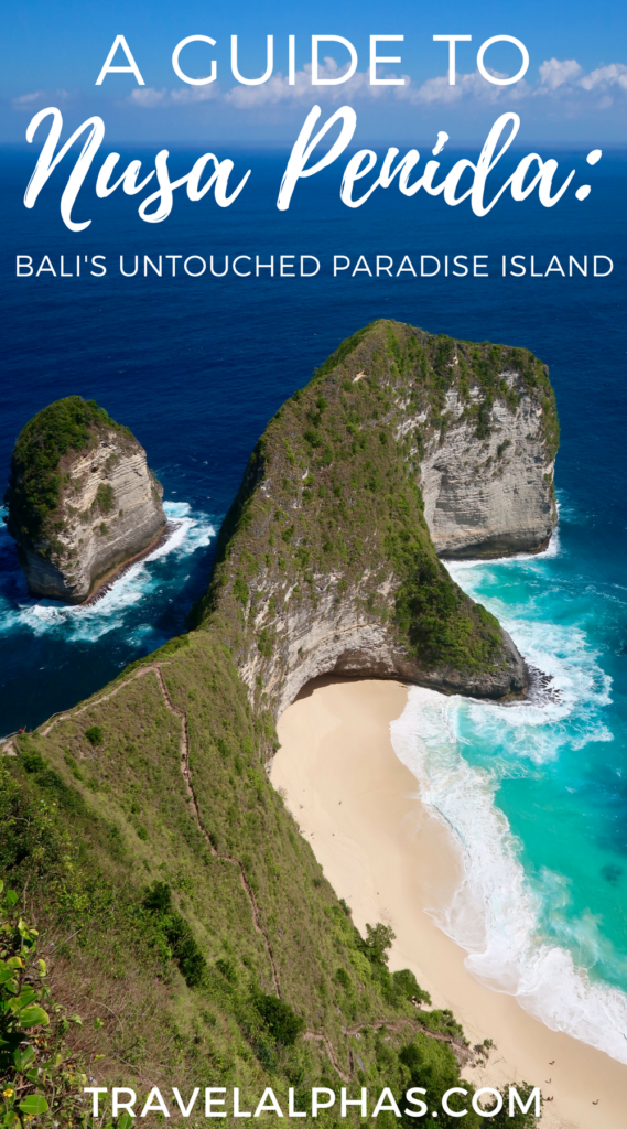 If you are traveling to Bali, Indonesia, then put the island of Nusa Penida on your radar.This rustic and incredibly beautiful island has somehow gone unnoticed for decades, and it currently resembles what Bali was 40 years ago: pure and pristine island paradise. This travel guide details how you can take a day trip to Nusa Penida from Bali. Between how to get there and how to get around, to what to do and see (such as snorkeling, Crystal Bay, Angels Billabong, Kelingking Beach, and Manta Point), this post includes everything you need to know for a successful trip to Nusa Penida! Plus, there's information on where to stay, if you do decide to stay the night.