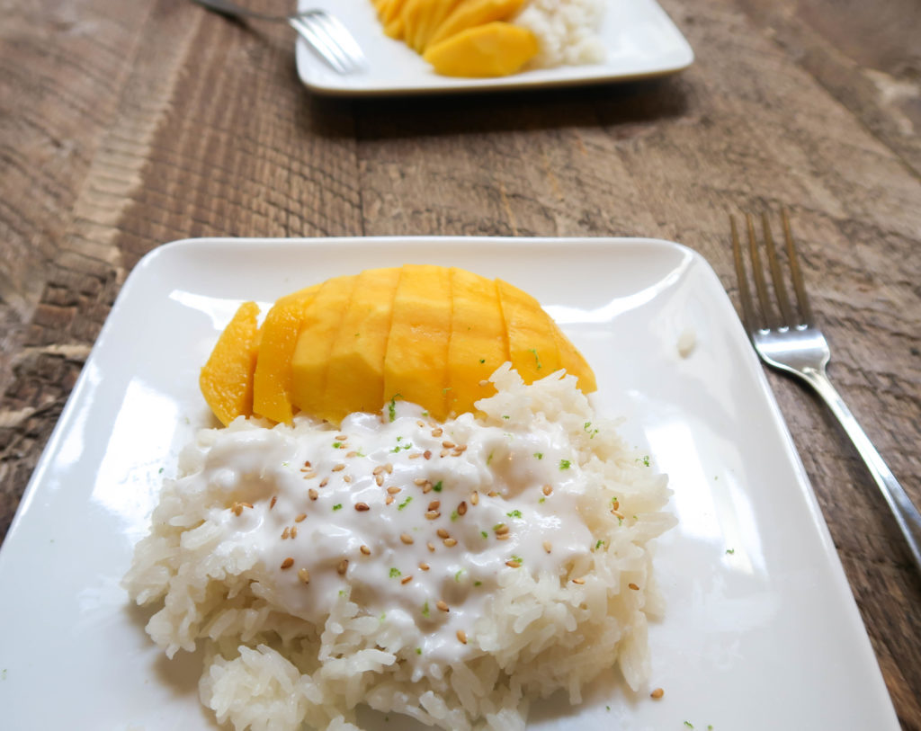 Has there ever been a dessert more delicious than Thai mango sticky rice? For me, this dish checks all the boxes. It's sweet, salty, tropical, and oh, so coconutty. If you want to make some easy and authentic Thai mango sticky rice, you will love this recipe!   Thai food   Thai dessert   Mango sticky rice recipe   Instant Pot Recipes   Vegan dessert   Coconut milk recipes  