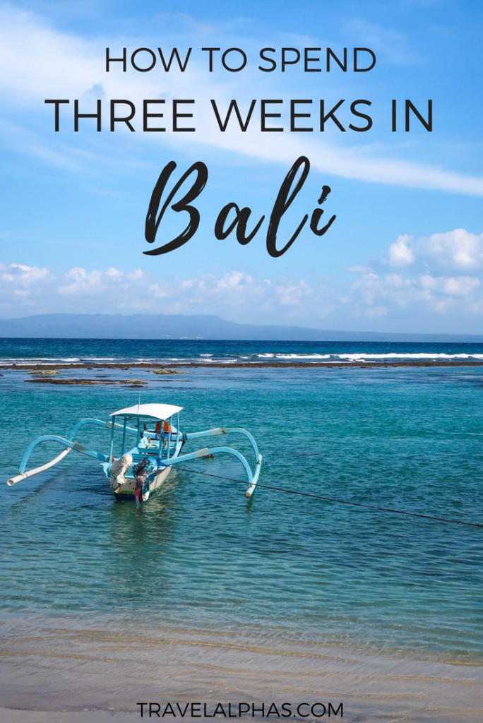 If you need some Bali travel tips, then check out this post! This three-week Bali itinerary includes the best of Bali, from beautiful places, beaches, and temples, to the best restaurants, amazing resorts, and things to do outdoors like biking, hiking, and rafting. Included in this itinerary are Ubud, Pemuteran, Seminyak, Nusa Penida, Jimbaran, and Uluwatu. After following this itinerary and spending three weeks in Bali, you will experience everything Bali has to offer, including the classics and unknown places!