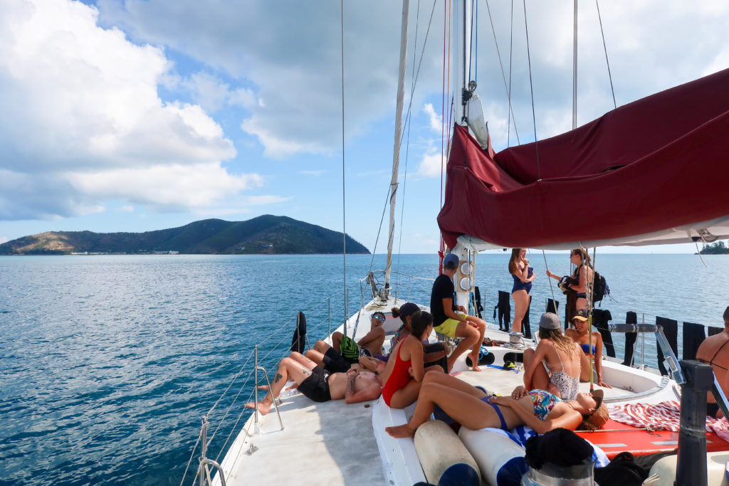 Are you planning on sailing the Whitsundays? Sailing the Whitsundays withSouthern Cross Sailing Adventureswas one of my favorite adventures in Australia, by far.Between relaxing on beautiful Whitehaven Beach and snorkeling with giant sea turtles, to hanging out on board the Siska with new friends and our awesome crew, andsoaking up the perfect weather, this tour was everything we could've wanted, and more. Click here to find out what its like to sail, snorkel, relax, and visit Whitehaven Beach in Australia's Whitsunday Islands, with Southern Cross Sailing Adventures.