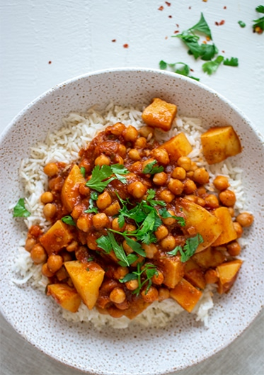 Vegan Chana Aloo Masala (Chickpea & Potato Curry)