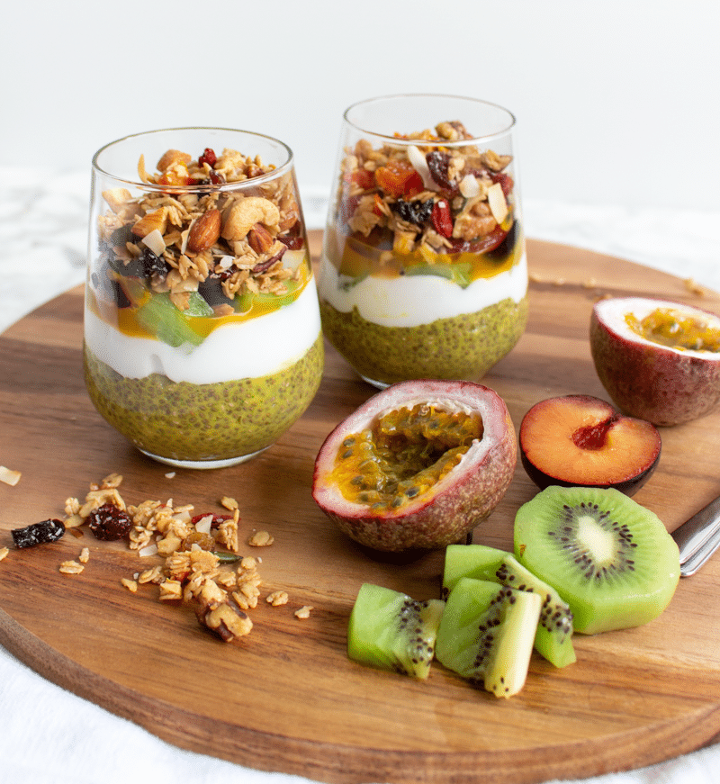 Chia pudding is the ultimate breakfast treat! This mango and kaffir lime chia pudding is packed with the tropical flavors of paradise. With only 5 ingredients plus your favorite toppings, it's very easy to make, and ready in minutes! It's also incredibly healthy. You're going to love this recipe!