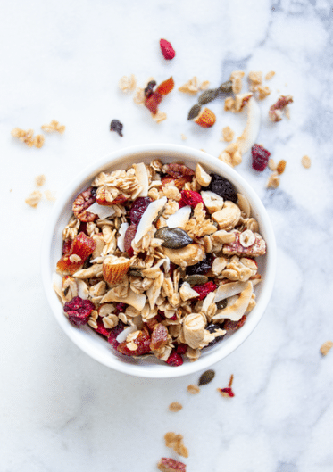 Favorite Homemade Granola with Coconut, Maple & Dried Fruit
