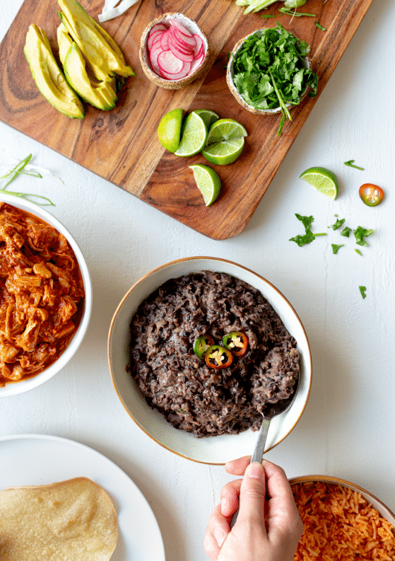 Easy, Flavor-Packed Refried Black Beans
