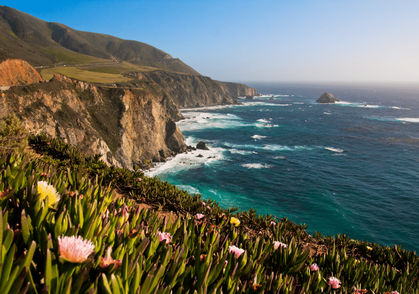 the rugged coastline of Big Sur, California. One of the most beautiful hiking and camping destinations in California.