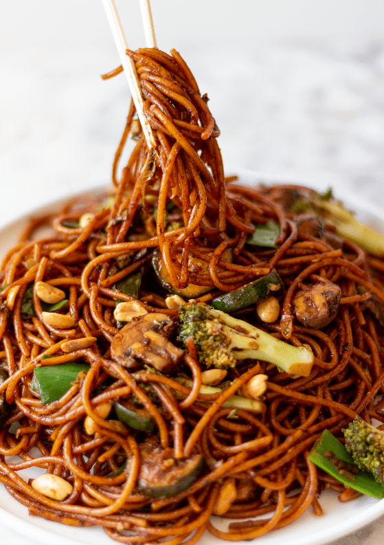 Spicy Kung Pao Noodles with Veggies