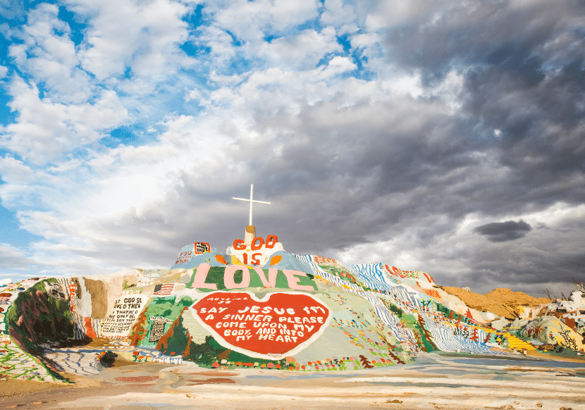 Salvation Mountain is an interesting stop on a California road trip