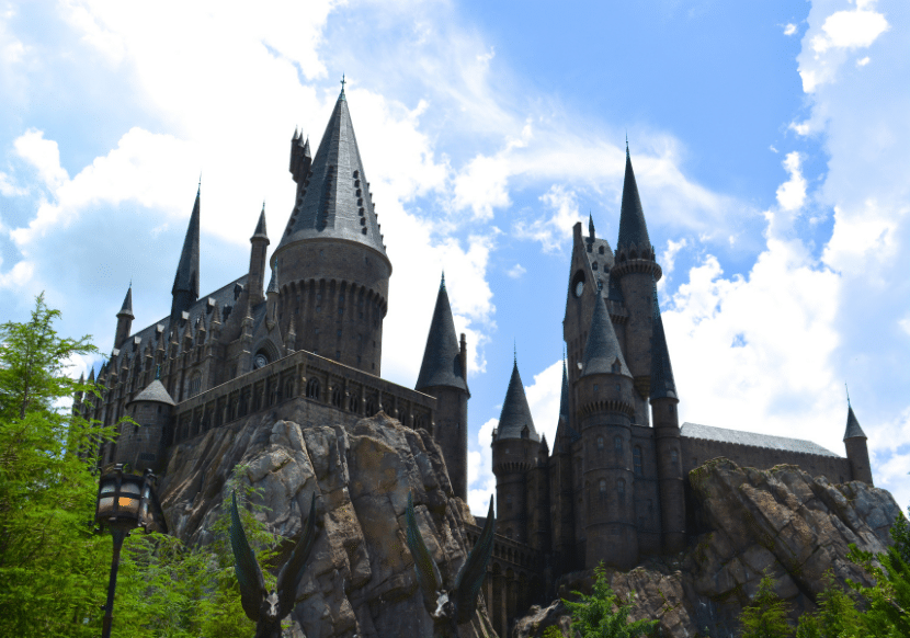 the Hogwarts castle at universal studios hollywood, a must visit theme park in California