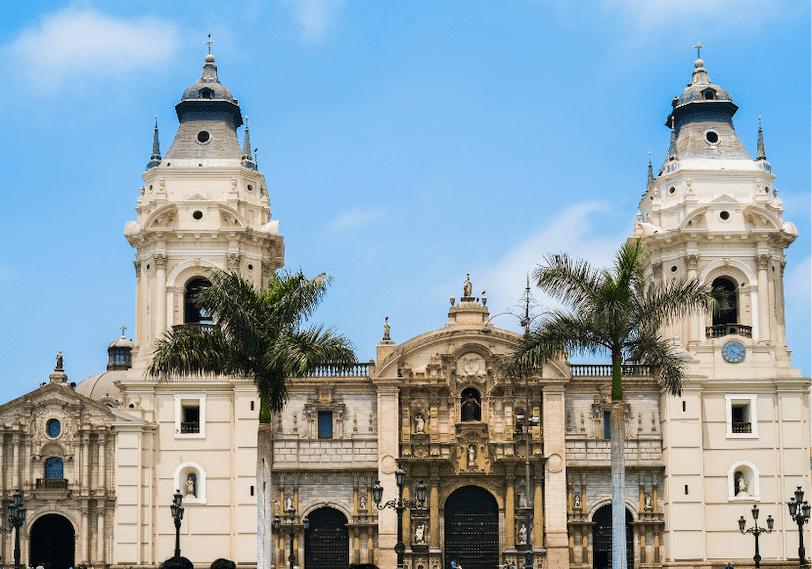 The Plaza de Armas and the main Basilica in Peru's capital.