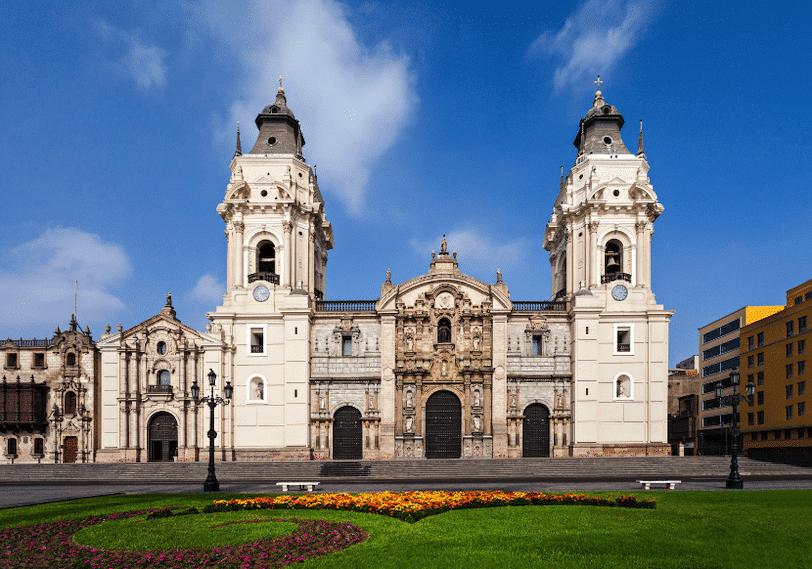 The Plaza de Armas in Lima.