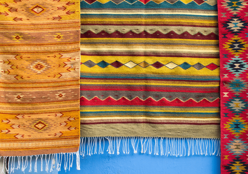 Colorful textiles are one of the best things to buy as souvenirs in Oaxaca - and shopping for traditional crafts is one of the best things to do in Oaxaca.