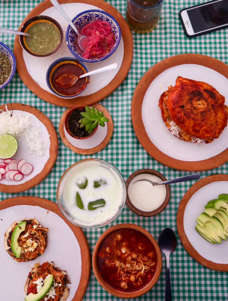 Eating the amazing local food - like these tortas, posole, and toastadas, is one of the best things to do in Oaxaca.