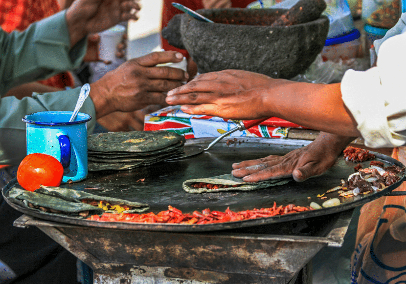 The street food in Oaxaca is incredible. To fully experience Oaxaca City, you must try the street food.