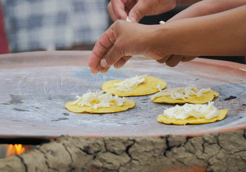 Oaxacan cheese, and other Oaxacan street foods are must tries in Oaxaca.